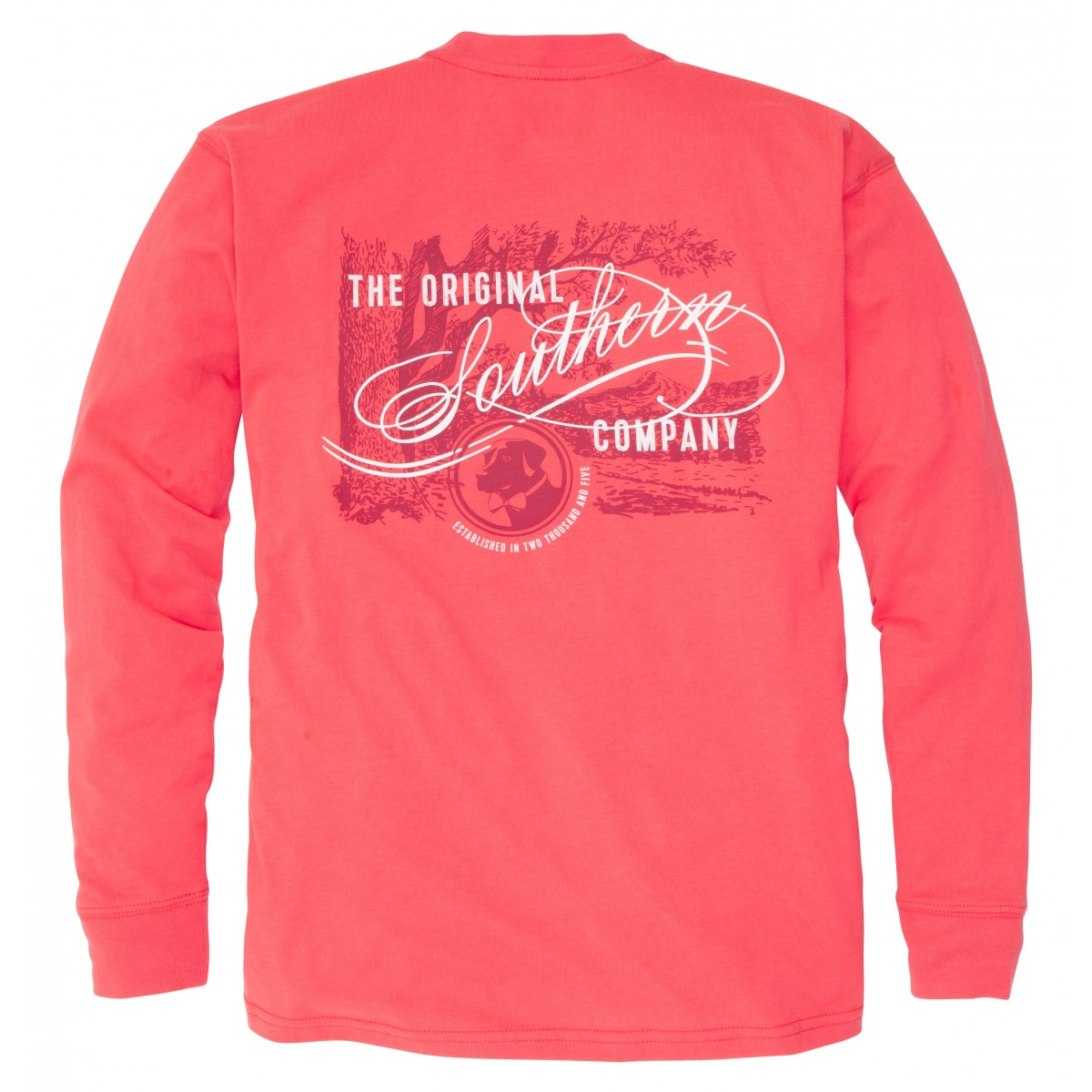 Original Southern Tee: Poinsettia Long Sleeve
